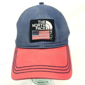 THE NORTH FACE Ru/14 Trucker Hat Red White Blue